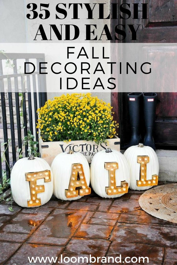 35 Stylish and Easy Fall Decorating Ideas
