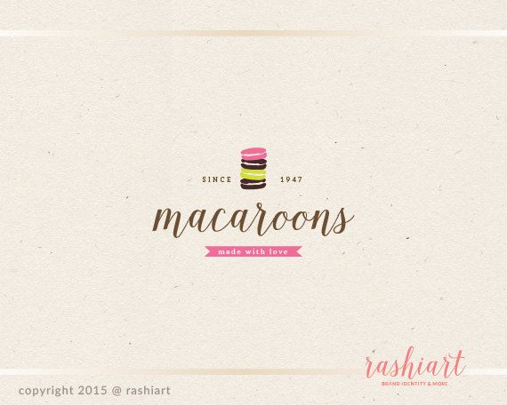 Premade logo design for bakery shop.