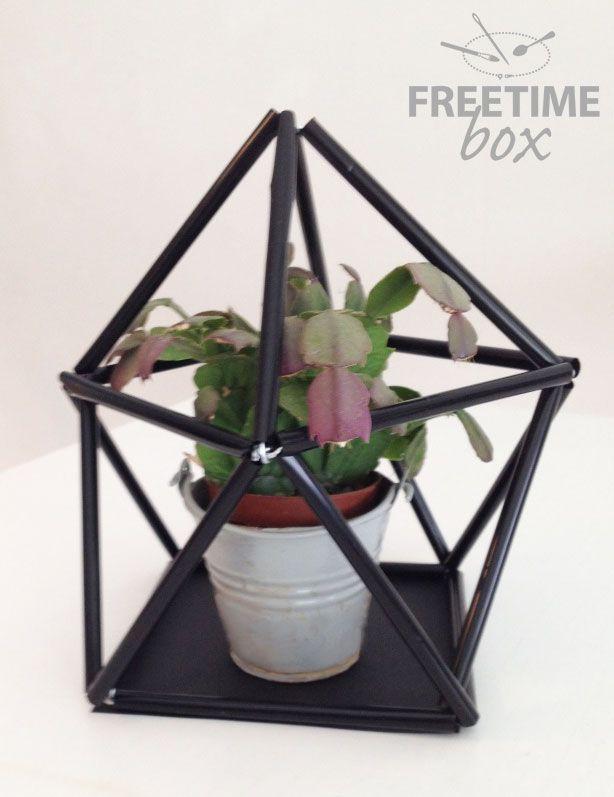 Tuto DIY : un terrarium avec des pailles
