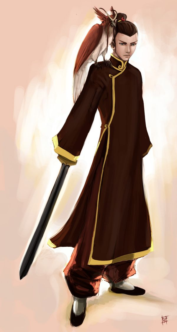 Sokka in the fire nation. Artist unknown - seems to be associated with a cosplay outfit