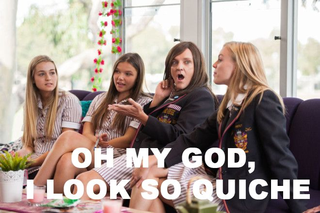 Ja'mie King and looking QUICHE.