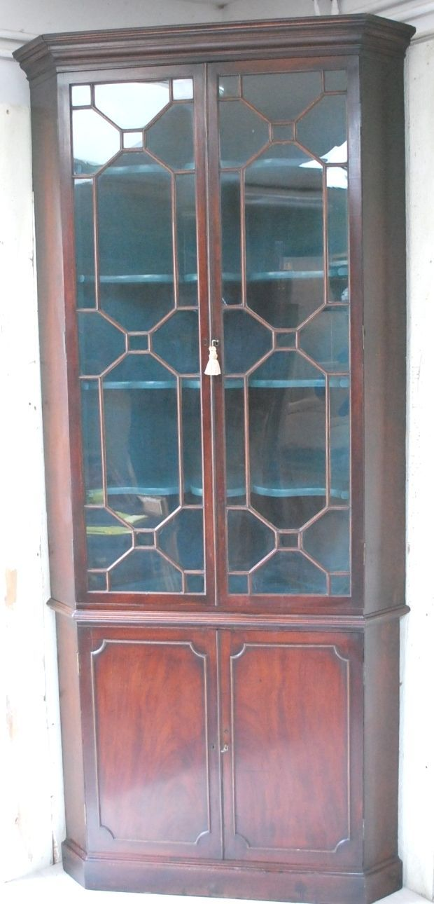 Best Antique Forsale Cotswolds Homedecor Chippendale Period Mahogany Corner Cupboard 400 x 300