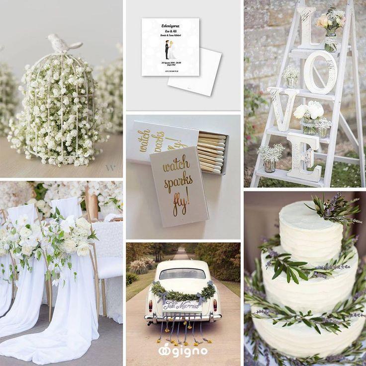 Parlak, saf ve temiz düğün fikirleri! Bu hafta ilham kaynağımız beyaz... #gignocreative #creative #customdesign #özeltasarım #davetiye #wedding #düğün #gelin #bride #damat #groom #instawedding #marriage #weddingday #romance #love #instagood #photooftheday #beautiful #spring #summer #engagement #nişan #fashion #pantone #white #inspirationboard #weddingpalette #bridalinspiration #colorboard