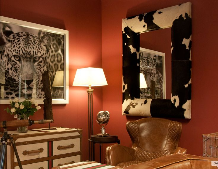 Animal patterns in the interior design can also be stylish