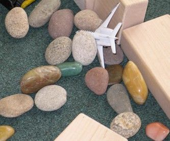 "This post on ""loose parts"" offers suggestions on materials that may lend themselves to a variety of counting and math activities."