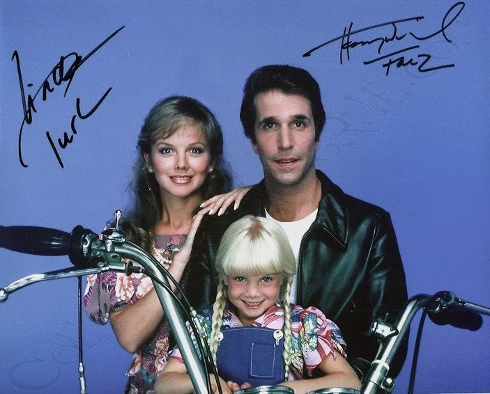 Heather O'Rourke, Henry Winkler and Linda Purl in Happy Days poster