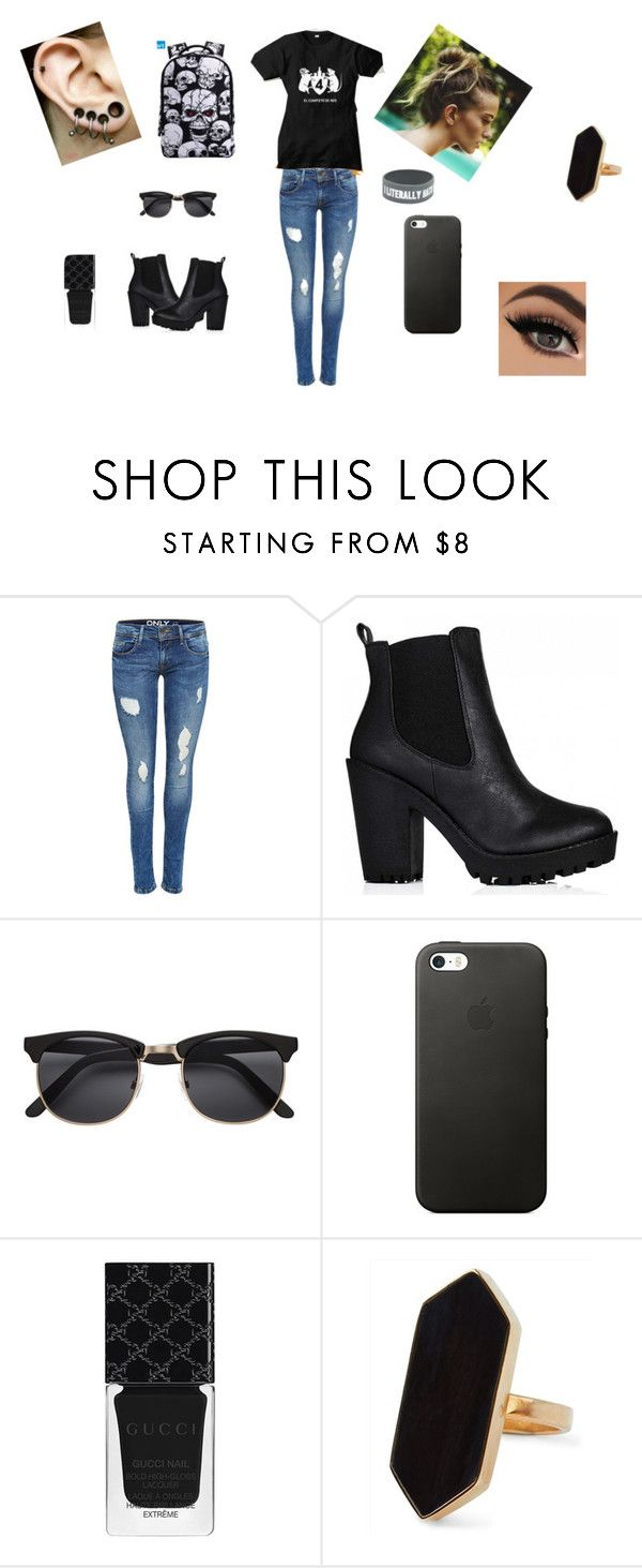 """""""rock uruguayo"""" by jennicruz ❤ liked on Polyvore featuring Gucci and Jaeger"""