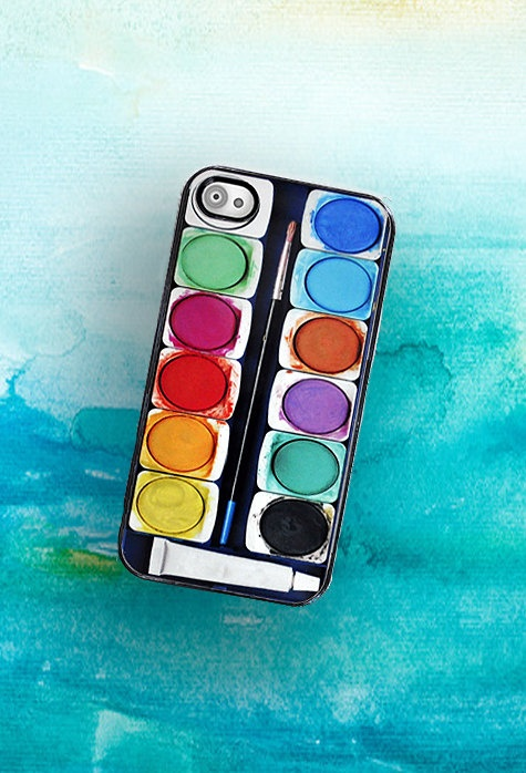 iPhone Case Watercolor Paint Set  iPhone Hard by TheCuriousCaseLLC, $18.00