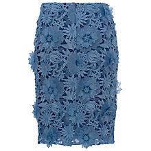 Buy French Connection Manzoni Lace Pencil Skirt, Meru Blue Online at johnlewis.com