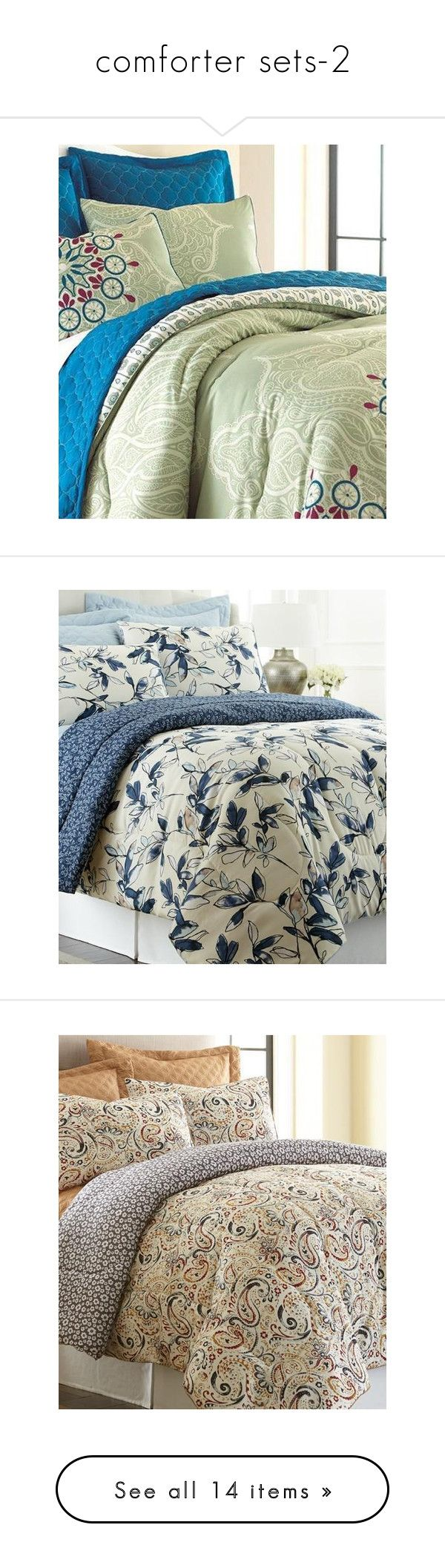 """""""comforter sets-2"""" by rwsummerimports ❤ liked on Polyvore featuring home, bed & bath, bedding, comforters, european pillow shams, euro pillow shams, european sham, european bedding, euro pillow-sham and oversized comforters"""