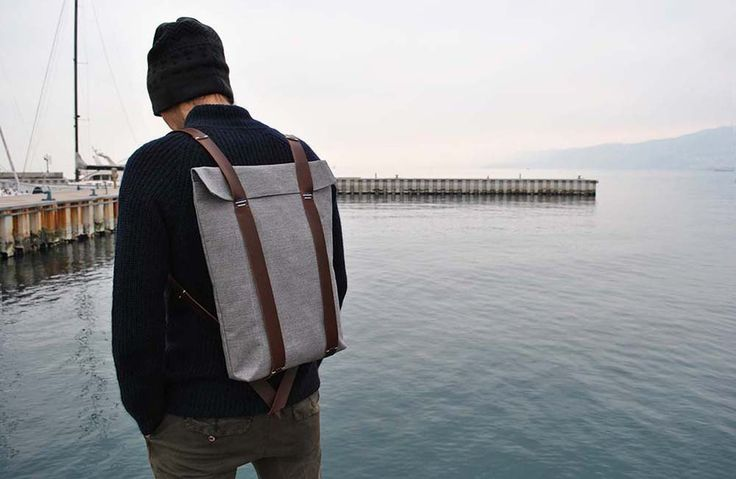 WaterProof Hipster Rucksack   Canvas and Leather Backpack   Big Knapsack for men and women by InconnuLAB on Etsy