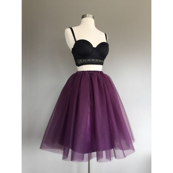 Eggplant Tulle Skirt Purple Tutu Skirt Adult Tutu Women's Tulle Skirt ($70) ❤ liked on Polyvore featuring skirts, dresses, grey, women's clothing, gray tulle skirt, tulle skirts, grey tulle skirt, purple tulle skirt and plus size tutu skirt