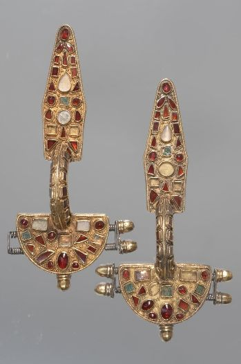 A pair of Fibulae, late roman, 400 A.D.