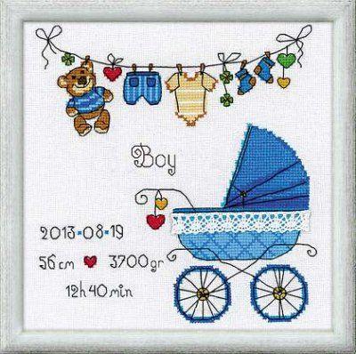 Baby Birth Announcements - Cross Stitch Patterns & Kits (Page 5) - 123Stitch.com