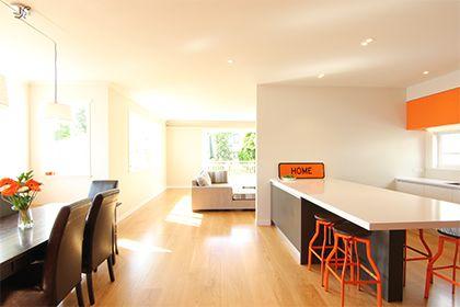 Renovate Magazine - Home Renovations | Renovate Orange and white with timber floor, yep that's my look