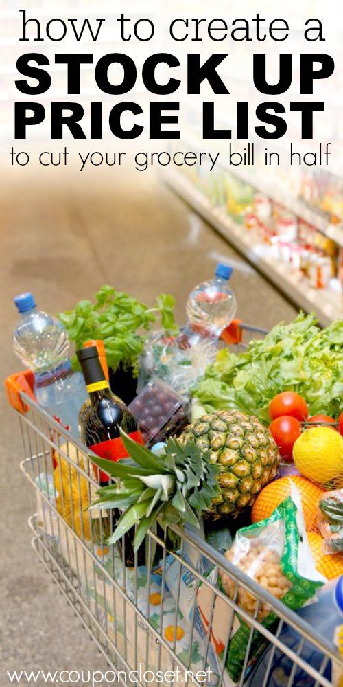 How to Create a Stock Up Price list to cut your grocery bill in half - here are easy tips so you know what is the best and lowest price on groceries