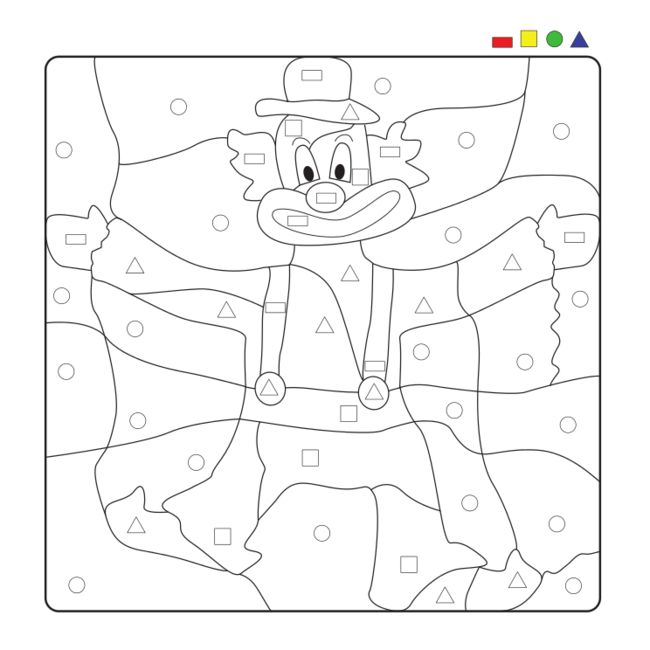 Clown-Symbolspiel