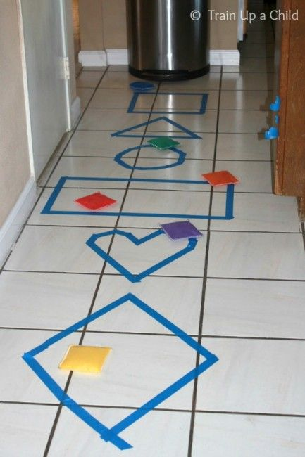 Shape Toss, Hop, Skip and Jump from Learn ~ Play ~ Imagine featured on hands on : as we grow