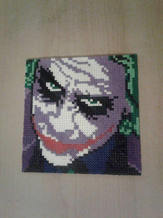 Joker Head Batman Perler Pixel Art Bugelperlen Vorlagen