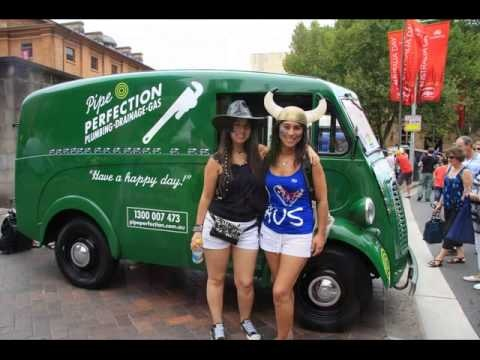 Dressed up for Australia Day CARNIVALE in #Sydney with the Pipe Perfection #plumbers van
