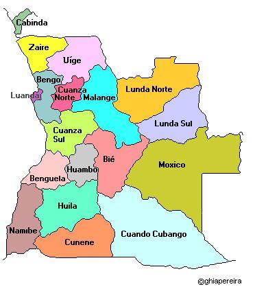 ANGOLA | Map of Angola / Mapa de Angola