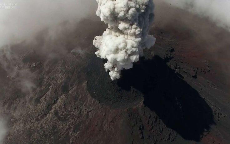 Éruptions volcaniques : des drones nous offrent un spectacle inédit - Futura-Sciences