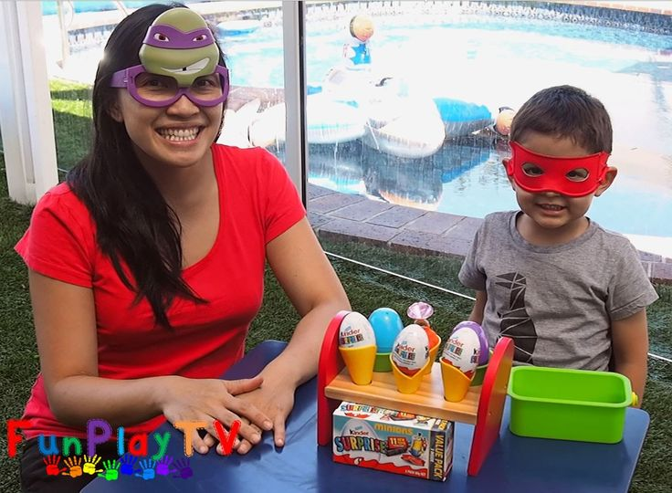 FunPlayTV presents mask wearing Raphael and Donatello opening Kinder Surprise Eggs from Minions 2015 collection.  Minions Playlist: https://goo.gl/Thm7om  There's also ice cream cones filled with Play Doh and wonderful surprises in them. The Donatello mask is from McDonald's Happy Meal 2016. Please SUBSCRIBE to FunPlayTV: https://goo.gl/fZjblu #minions #kinder #eggs #playdoh