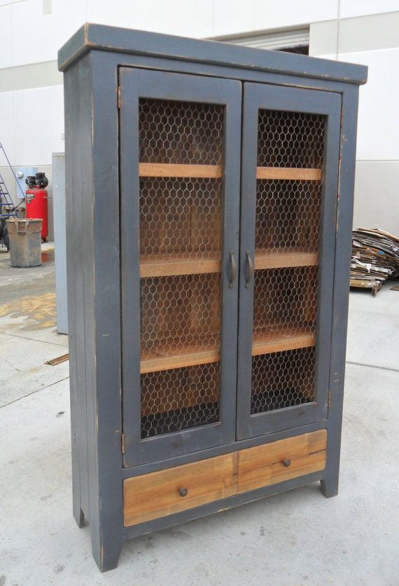 Bookcase, Display Cabinet, China Cupboard, Reclaimed Wood, Shelves, Rustic
