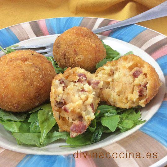 Croquetas de patata y chorizo