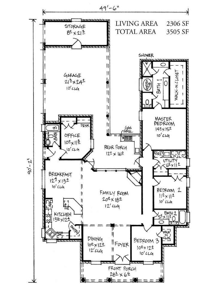 17 best images about house plans on pinterest 3 car for Louisiana acadian house plans