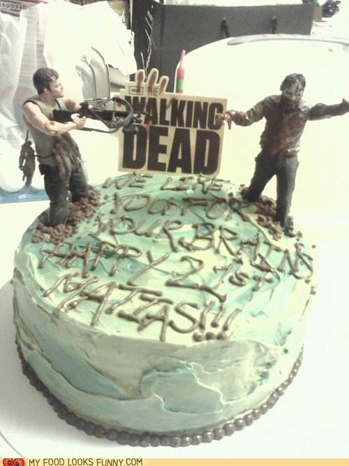 Walking Dead Cake - John's b-day cake?!