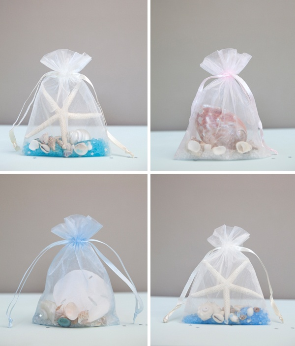 DIY Bridal Shower Sachet Favors Tutorial Beach Wedding