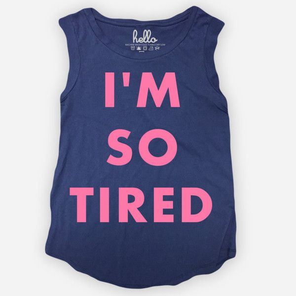 I'm So Tired (Adult) Womens Navy Cap Sleeve T-Shirt by Hello Apparel for sale on hellomerch.com