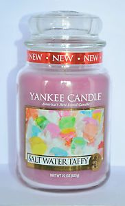 Bougie Grande Jarre Yankee Candle Salt Water Taffy Large JAR Exclu US | eBay