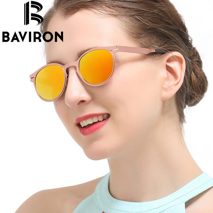 BAVIRON Retro Round Sunglasses Unisex Sturdy Mirror Polarized Glasses Hipster Vintage Reflection Sun Glasses For Face Shape 8033