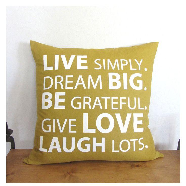 Best 20+ Quote pillow ideas on Pinterest   Pillow case ...