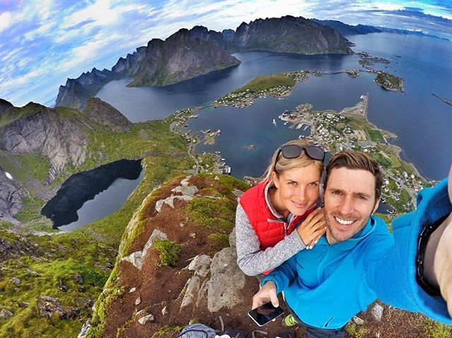 Been there done that, wish you a great adventure in the #lofotenislands  Active guests #explore the #lofotenmountains by hiking. 📷 @martinsteinbach  #lofoten #hikingadventures #vikingfootwear #gopro #goprooftheday #outdooradventures #thegreatoutdoors #exploringglobe #mittfriluftsliv #visitnorthernnorway
