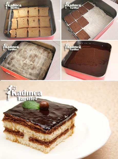 Bisküvili Etimek Pastası Tarifi