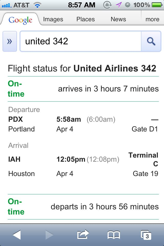 Travel tip: Google your flight status.
