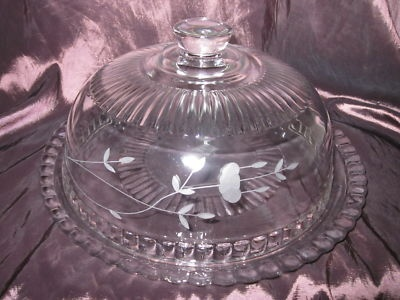 Princess House Heritage Cake Plate With Dome