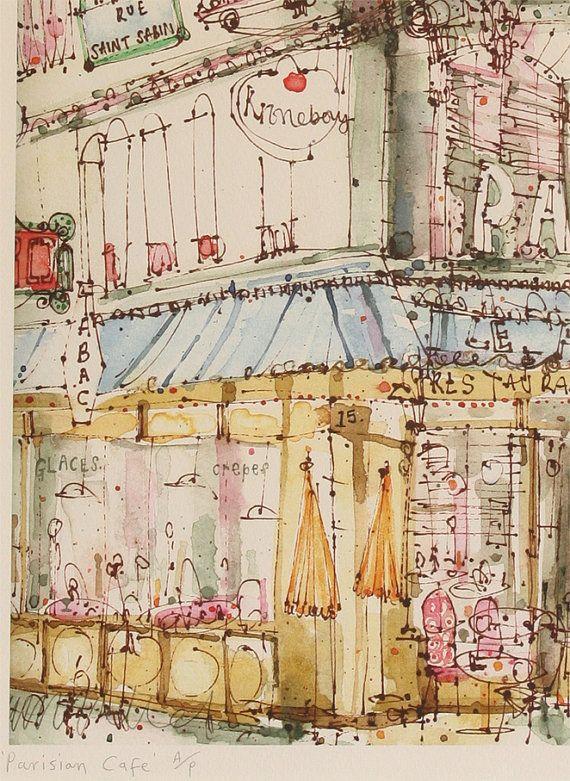 PARISIAN CAFE PARIS - Clare Caulfield