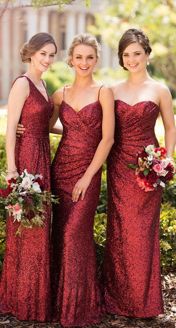 Floor Length Sequin Bridesmaid Dress by Sorella Vita
