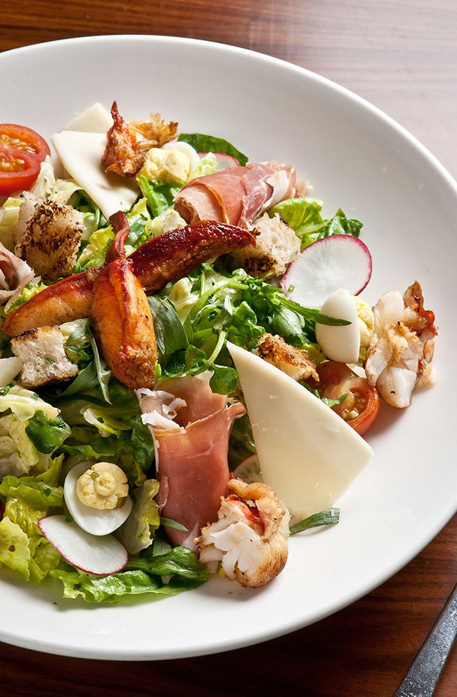 Head to STK NY Midotwn to enjoy Lobster Cobb Salad with Proscuitto, Deviled Eggs, and Truffle Mustard Vinaigrette.