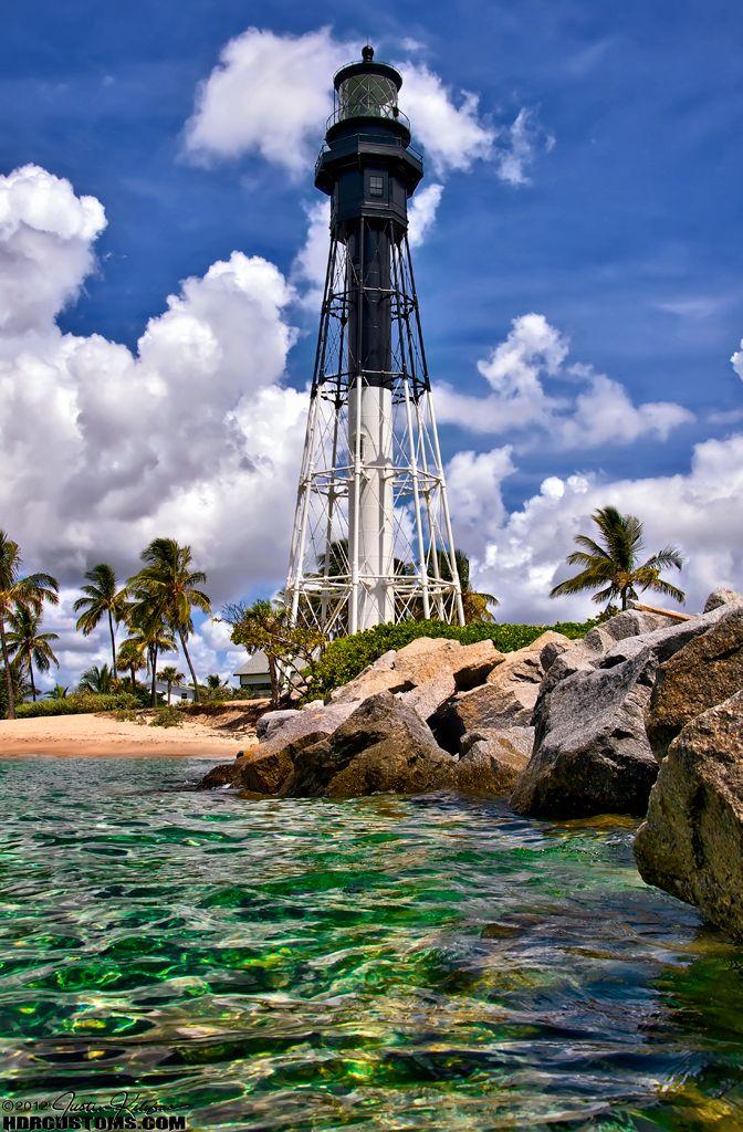 Hillsboro-lighthouse-pompano-beach-florida. I spend many days on these rocks snorkeling and fishing.