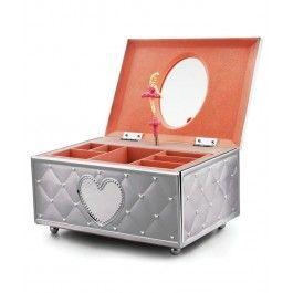 Cutia muzicala bijuterii Balerina va face deliciul oricarei fetite prin melodia calda si pentru ca poate pastra in ea bijuterii precum mama sa.