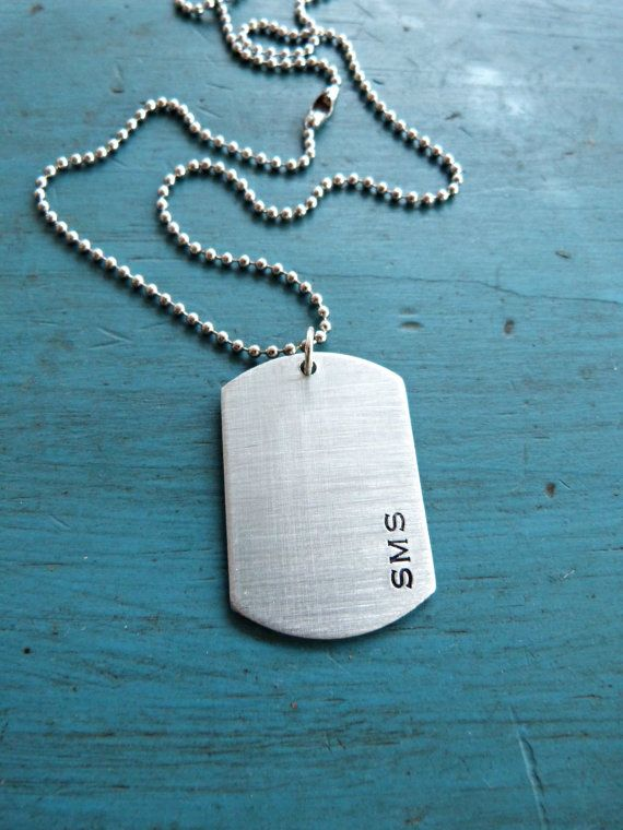 Husband Gift Boyfriend Gift Mens Dog Tag by vintagestampjewels