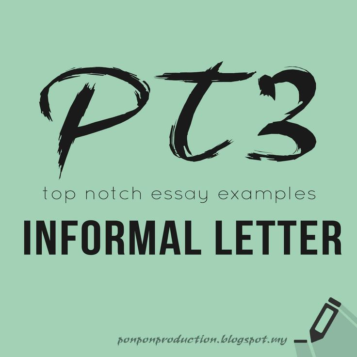 54 best PT3 and SPM images on Pinterest English language, English - best of example informal letter format spm