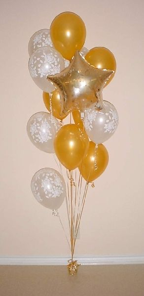 Balloon Bouquet As A Floor Decoration By The Door