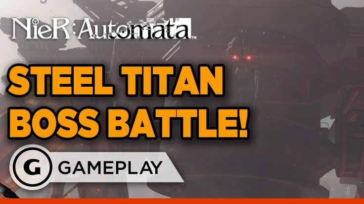 NieR Automata Demo - Steel Titan Boss Fight Gameplay