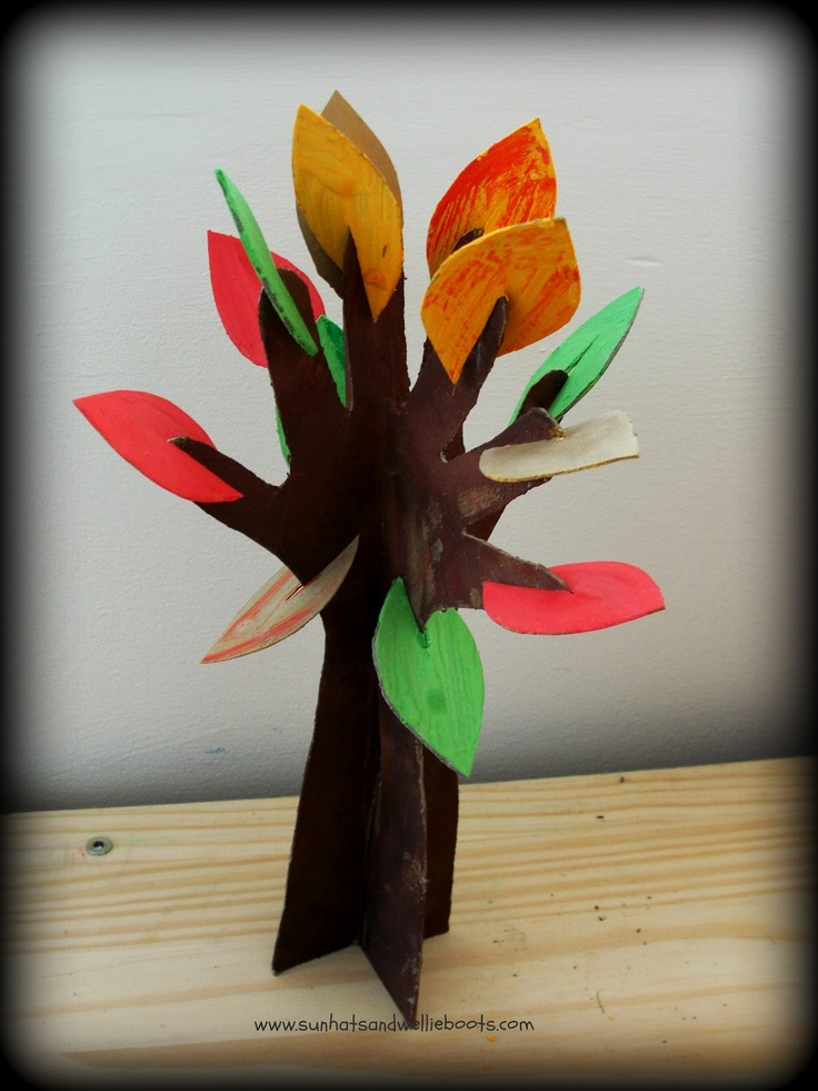 Sun Hats & Wellie Boots: 3D Hand Trees - Exploring the 4 Seasons